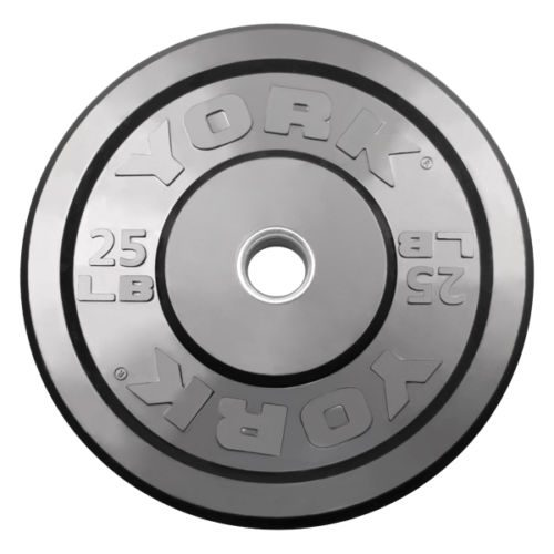 York Barbell 29069 25 lb. Solid Rubber Training Bumper