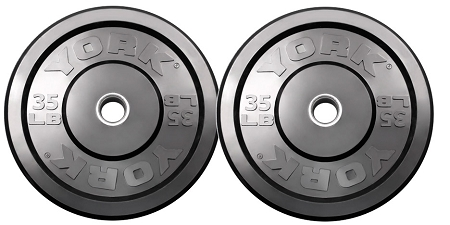 York Barbell 29070 35 lb. Solid Rubber Training Bumper