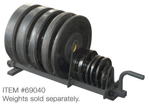 York Barbell 69040 Half Set Horizontal Plate Rack Black