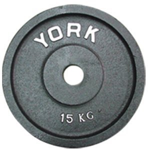 York Barbell 7374 Uncalibrated Standard Kilo Olympic Plate - 15 kg
