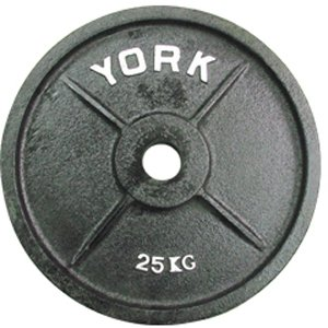 York Barbell 7376 Uncalibrated Standard Kilo Olympic Plate - 25 kg