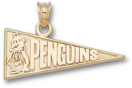 "Youngstown State Penguins ""Penguins Pennant"" Lapel Pin - 10KT Gold Jewelry"