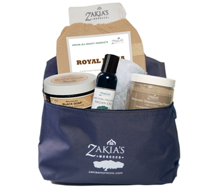 Zakias Morocco Ham-007 The Hammam Vanilla with Argan Oil Home Spa Basket