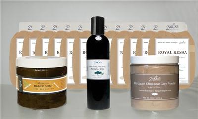 Zakias Morocco Mini-Ham-Pro Hammam Vanilla Spa Introductory Kit