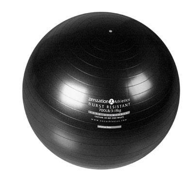 Zenzation 65cm Exrcise Ball Bk