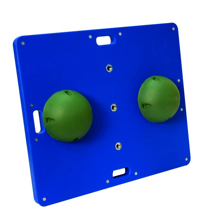 15 x 18 in. Balance Combo Wobble & Rocker Board Green