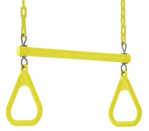 18 x 2 x 10 in. Trapeze Swing Bar with Vinyl Coated Chain Yellow