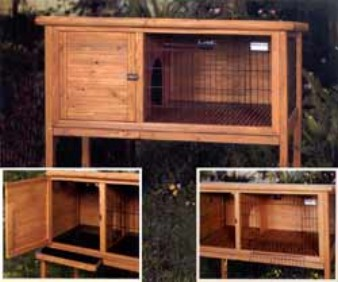 2910-3LARGE Extreme Solid Wood Rabbit Shack - Large - 48 x 24 x 46 Inch