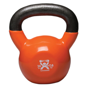 30 lbs Vinyl Coated Kettlebell Gold