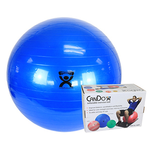 34 in. Inflatable Exercise Ball - Blue