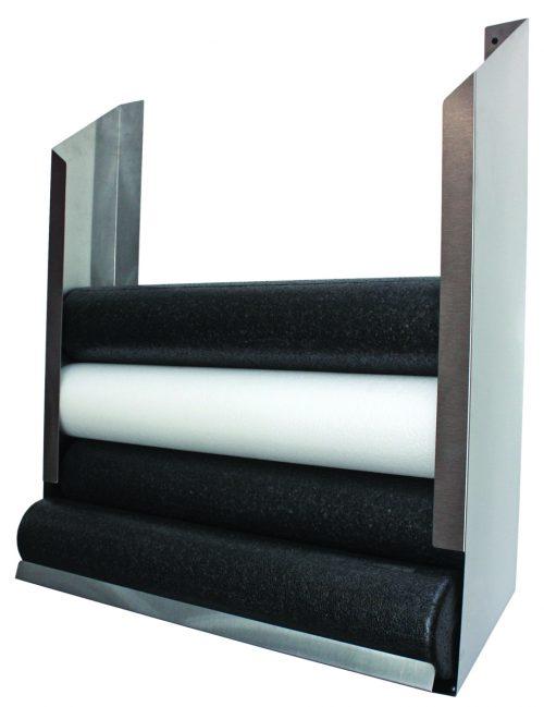 36 in. x 10 in. D x 40 in.H Wall Mount Storage Rack Foam Roller Accessory