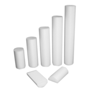 6 x 48 in. PE Foam Half Round Roller - White