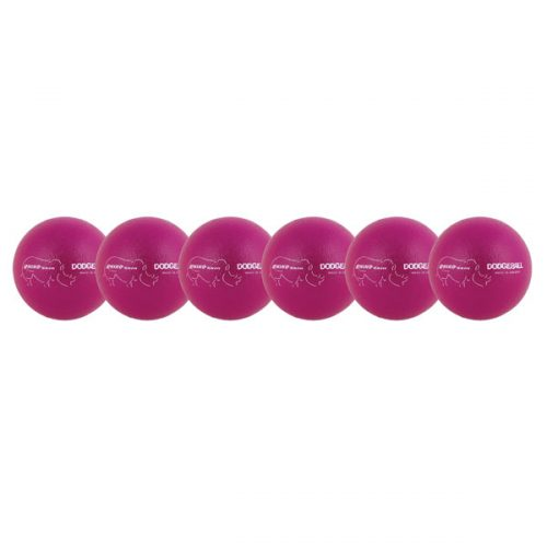 6.3 in. Rhino Skin Dodgeball Set Neon Purple - Set of 6