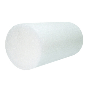 8 x 12 in. Jumbo Size PE Foam Round Roller - White