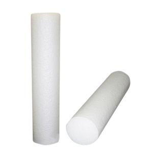 8 x 36 in. Jumbo Size PE Foam Round Roller - White