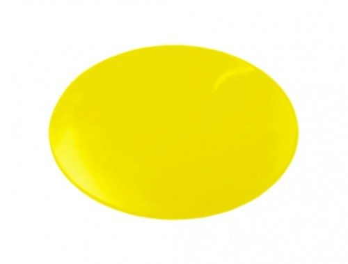8.5 in. dia. Dycem Non-Slip Circular Pad Yellow