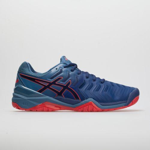 ASICS GEL-Resolution 7: ASICS Men's Tennis Shoes Blue Print