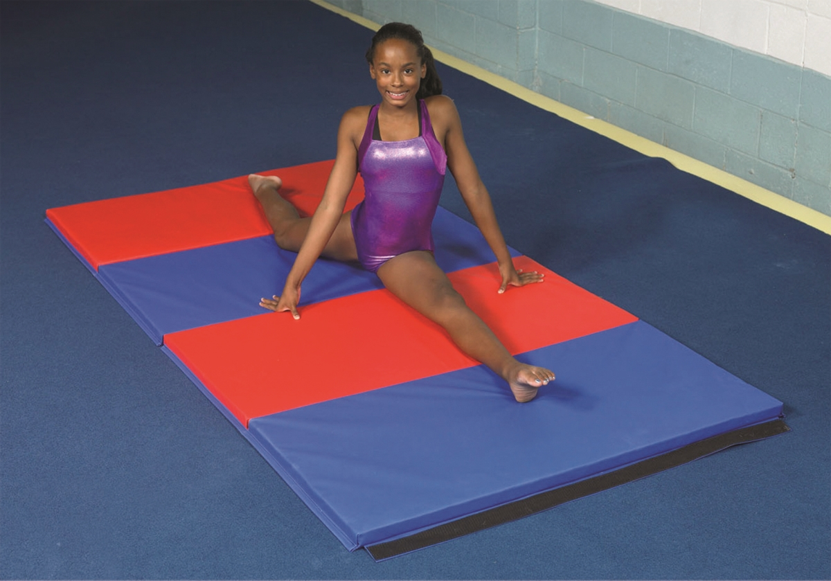 Accordion Mat - 2 in. PU Foam with Cover Specify Alternating Colors - 5 x 4 ft.