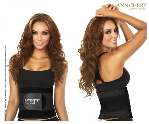 Ann Chery 7707142237853 2051 Womens Latex Fit Waist Shaper Belt Black - Medium-34