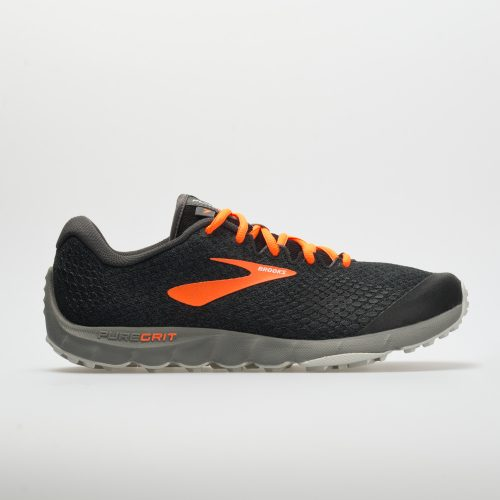 Brooks PureGrit 7: Brooks Men's Running Shoes Black/Orange/Grey