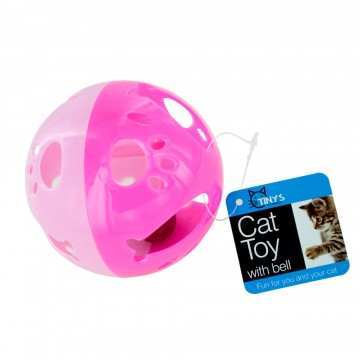 Bulk Buys DI546-24 Cat Ball Toy with Bell Large - 24 Piece