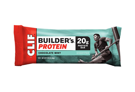 CLIF Chocolate Mint 20g Builder's Protein Bar - Box of 12