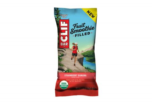 CLIF Strawberry Banana Fruit Smoothie Filled Bar - Box of 12 - strawberry banana, box of 12