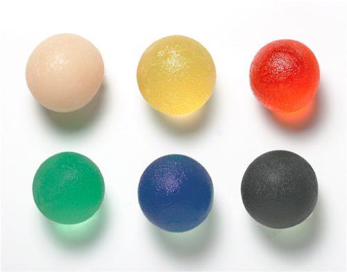 Cando Gel Squeeze Ball - Standard Circular - 6-Piece
