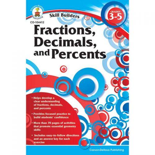 Carson Dellosa CD-104412BN Skill Builders Fractions Decimals & Percents - Pack of 6