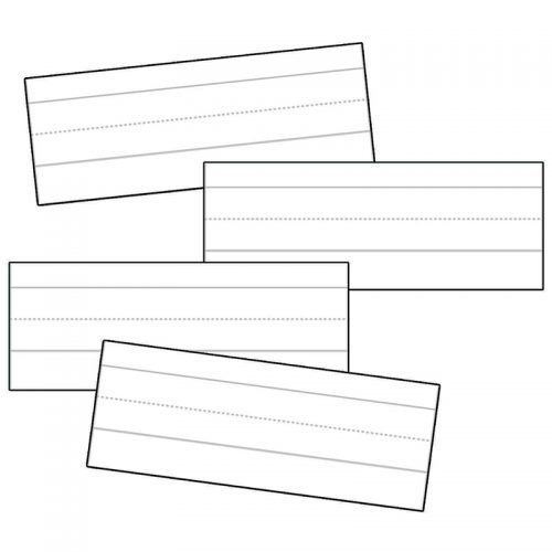 Carson Dellosa CD-4457BN 3 x 8 in. Word Strips Lined White - Pack of 12