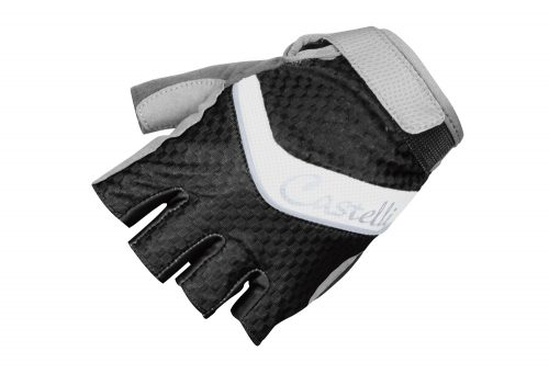 Castelli Elite Gel Glove - black/white/silver, small