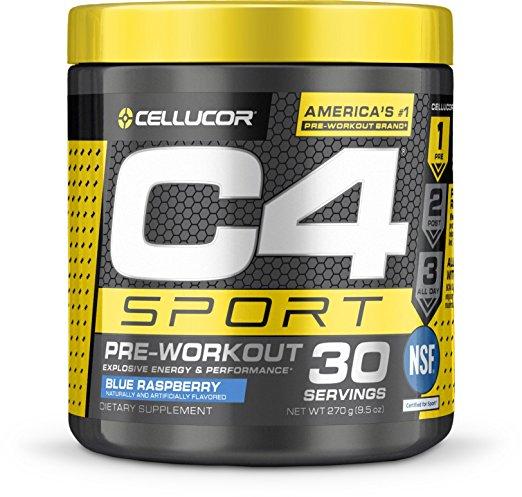 Cellucor 6550526 C4 Sport Blue Razz 30 Serves