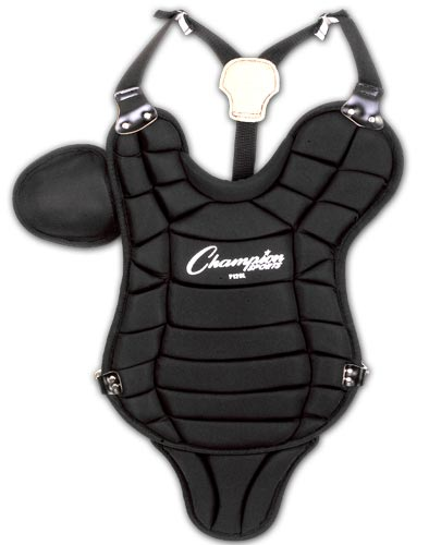 Champion Sports 03641 Little League Chest Protector with Tail Black