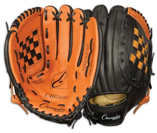 Champion Sports 03995 12 in. Baseball or Softball Fielders Glove - Worn on Left Hand