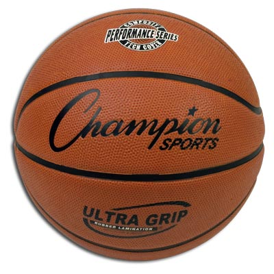 Champion Sports 04285 Junior Size Ultra Grip Composite Tech Rubber Basketball