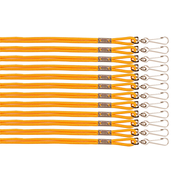 Champion Sports 125GD 10 in. Heavy Nylon Lanyard Yellow - Pack of 12