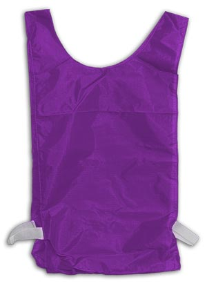 Champion Sports 13149 Youth Size Heavyweight Nylon Pinnie with Elastic Waistband 12 Pieces-Purple