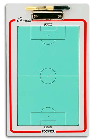 Champion Sports 13167 10 x 16-in. Soccer Double-Sided Coaching Board