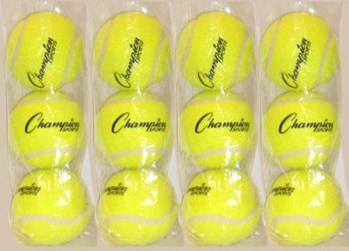Champion Sports 5583 Pressureless Practice Tennis Balls 12 Piece