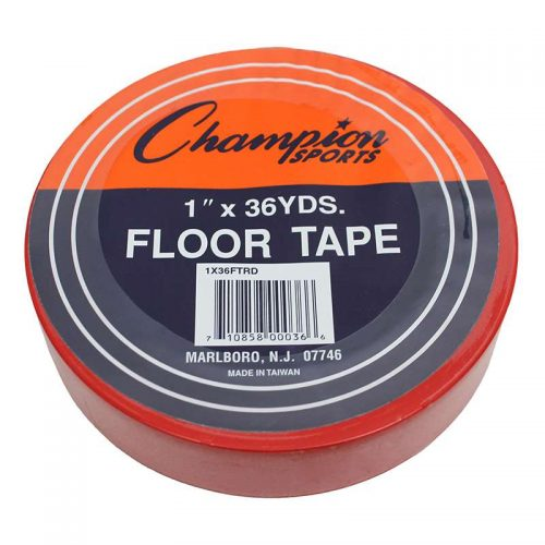 Champion Sports CHS1X36FTRDBN Floor Marking Tape Red - 6 Tape Rolls