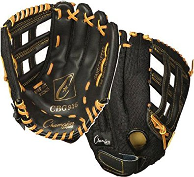 Champion Sports CHSCBG935 11 in. Rawhide Lacing Mens Glove - Black