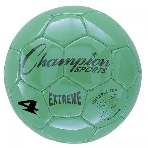 Champion Sports CHSEX4GNBN Soccer Ball Size 4 Composite Green - Pack of 2