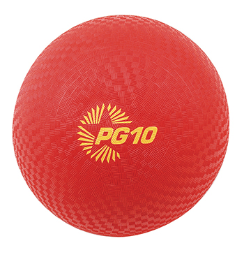 Champion Sports CHSPG10RD Playground Balls Inflates To 10In