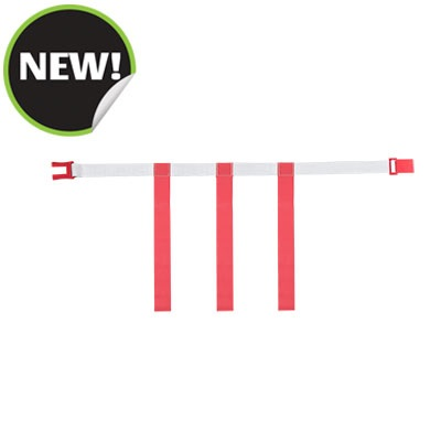 Champion Sports MBELTRDMD White Belt with Red Magnetic Medium Flag Set