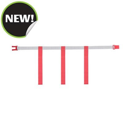 Champion Sports MBELTRDXL Gray Belt with Red Magnetic Extra Large Flag Set