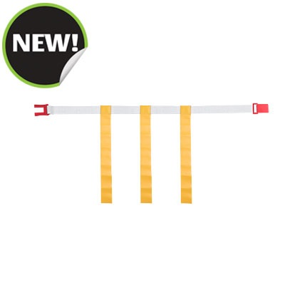 Champion Sports MBELTYLMD White Belt with Yellow Magnetic Medium Flag Set