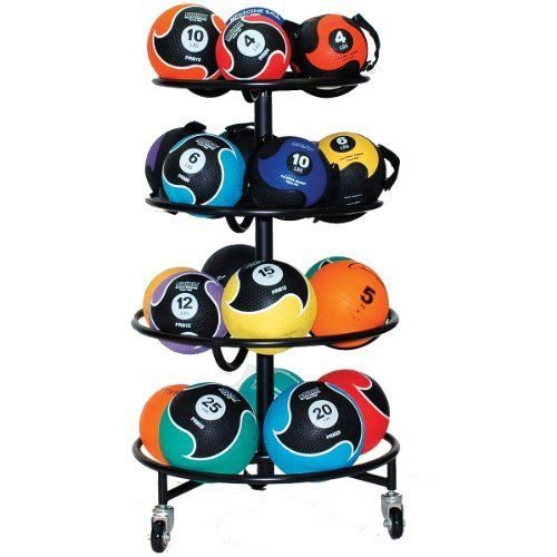 Champion Sports MBR22 Sure Fit Medicine Ball Rack Black