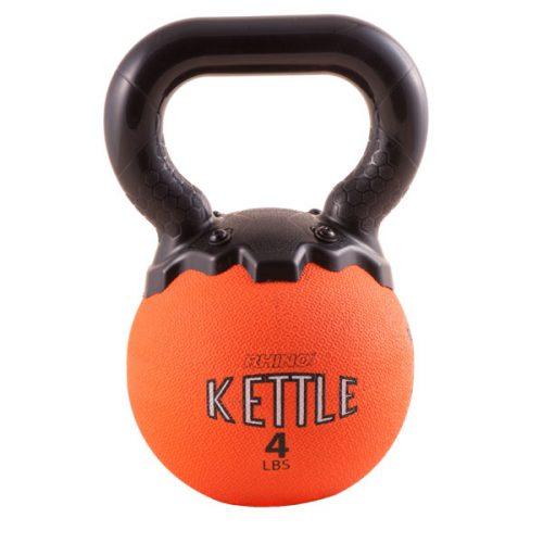 Champion Sports MKB4 4 lbs Mini Rhino Kettle Bell Orange