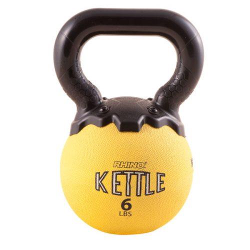 Champion Sports MKB6 6 lbs Mini Rhino Kettle Bell Yellow
