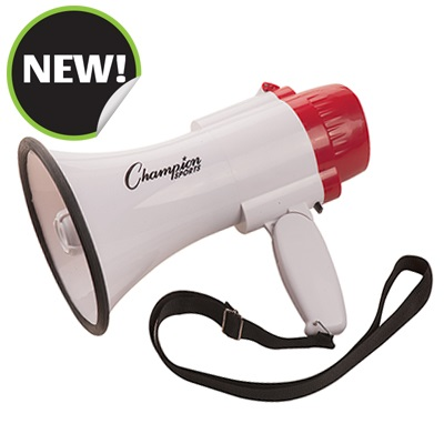 Champion Sports MP3W 10 x 6 in. 300 Yard Range Megaphone